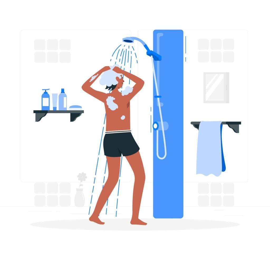 Dusche Illustration