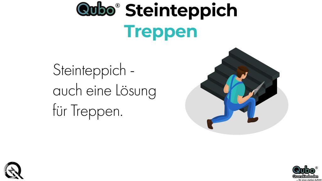 Qubo Steinteppich Treppen