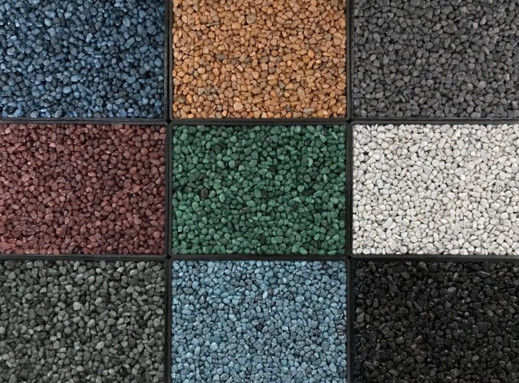 Steinteppich Farbmuster Quarzkies