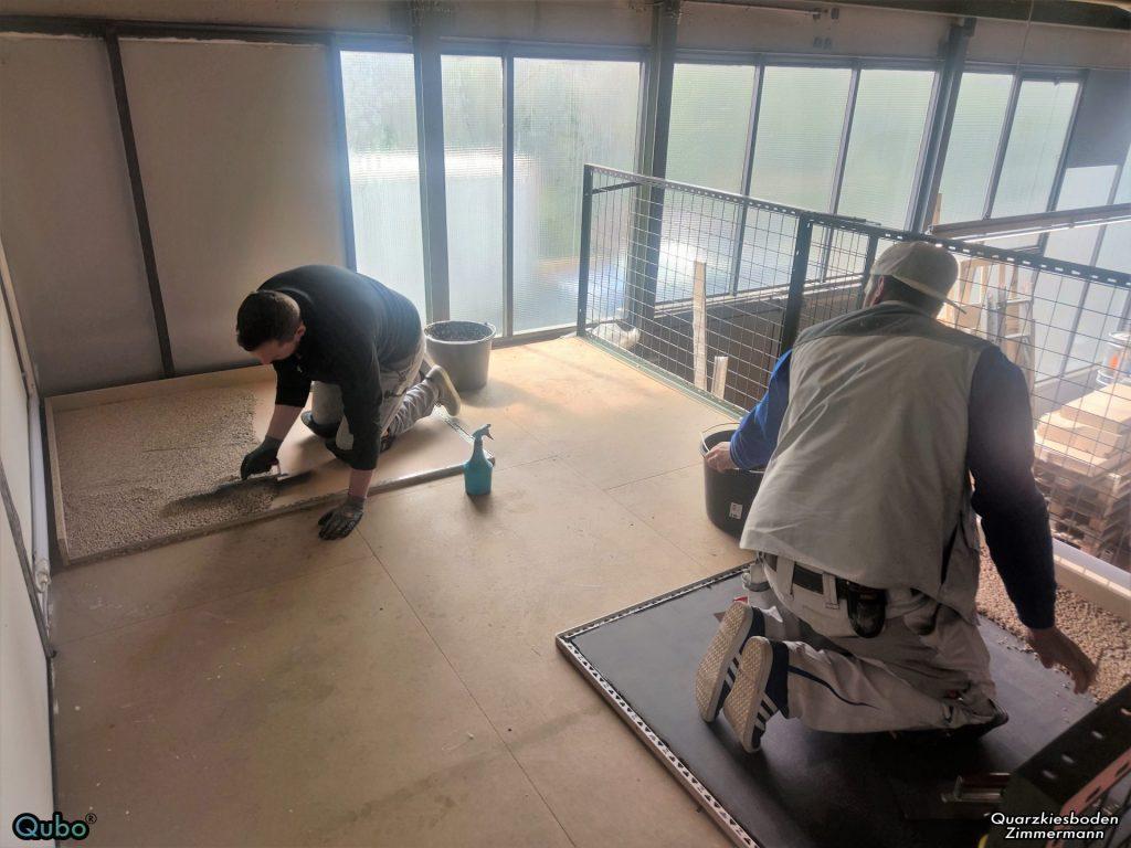 Steinteppich Verlegen in Schulung