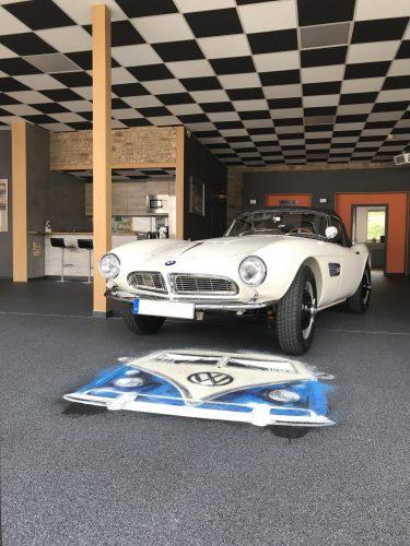 Steinteppich Ausstellung BMW & Küche