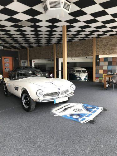 Steinteppich Ausstellung BMW & VW T1